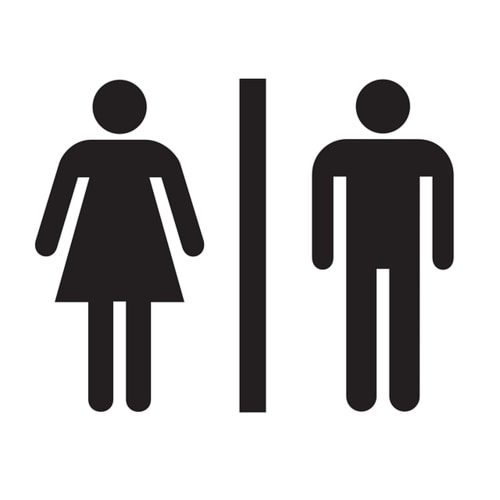 Female male toilet